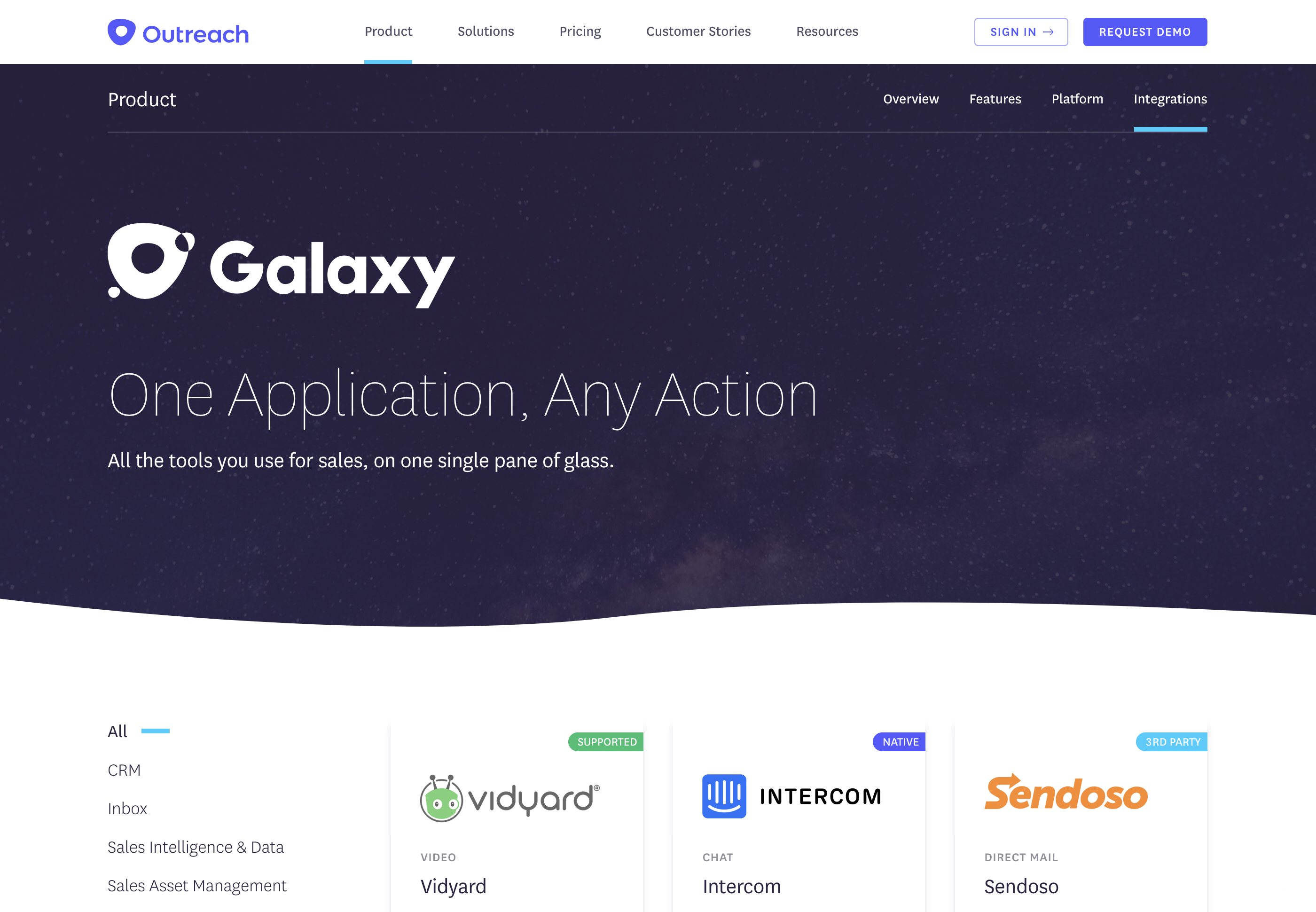 Galaxy Site Screenshot