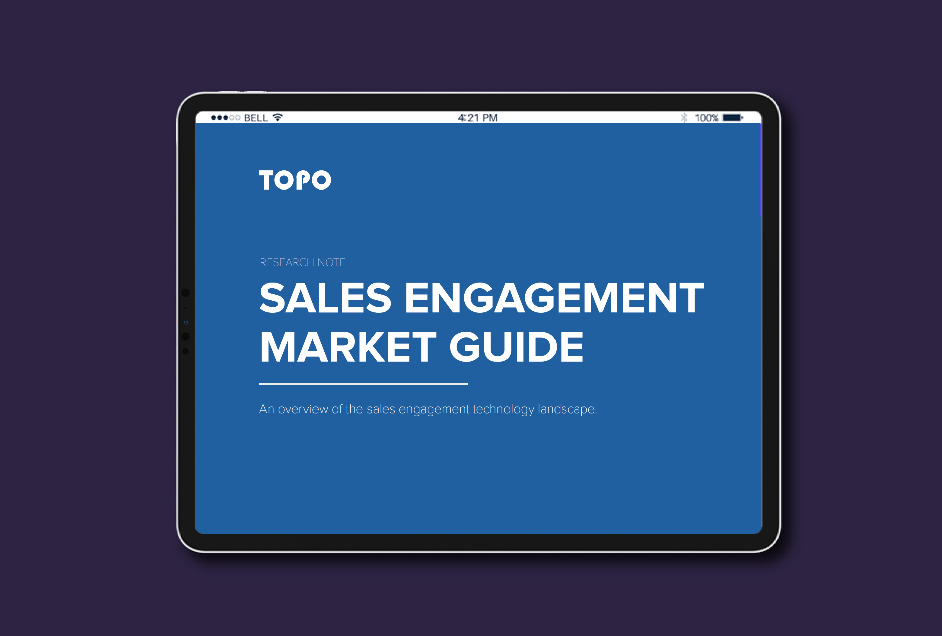 TOPO Sales Engagement Market Guide: An Overview of the Sales Engagement Technology Landscape