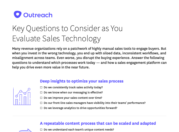Checklist: Do You Have the Right Sales Technology in Place?